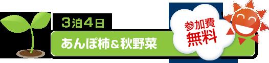 3泊4日 あんぽ柿&秋野菜
